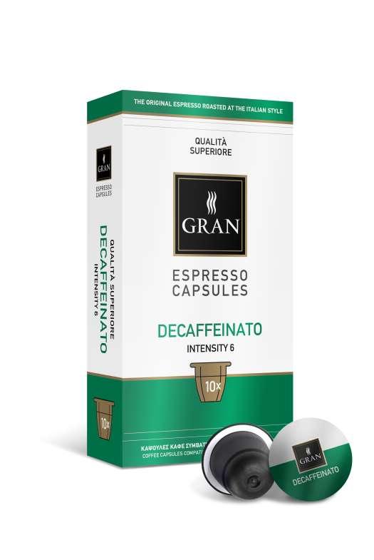 Decaffeinato | 10 Capsules Compatible with Nespresso machine